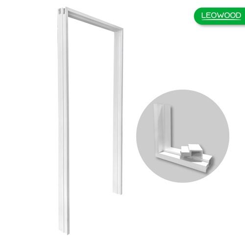 LEOWOOD วงกบประตูไม้สังเคราะห์ (ภายนอก)  ขนาด 70x200ซม.  Leo Frame Premium สีขาว