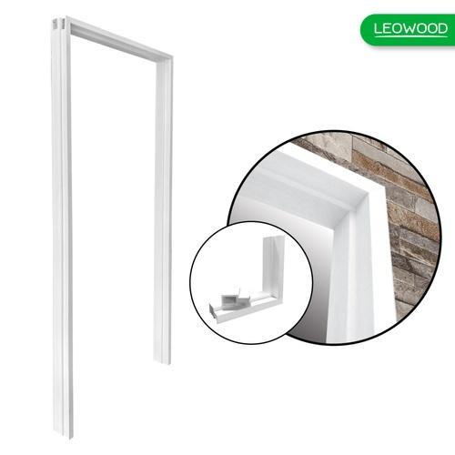 LEOWOOD วงกบ+ ไม้สังเคราะห์  ภายนอก ขนาด 40/100x900x2000 Leo Frame Premium สีขาว