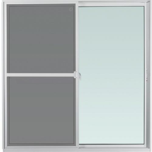 ENZO ประตูอลูมิเนียมบานเลื่อน SS ขนาด 200x205cm.  พร้อมมุ้งลวด TRUSTAND EZ-SS2020  สีขาว