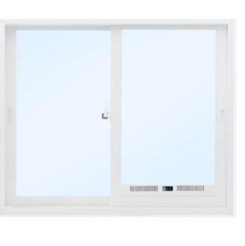 SankyoAlumi หน้าต่างอลูมิเนียมบานเลื่อน ช่องระบายอากาศพร้อมมุ้ง + 1200x1100มม. SS (J TRUST) JW7-SS1211-W5G สีขาว