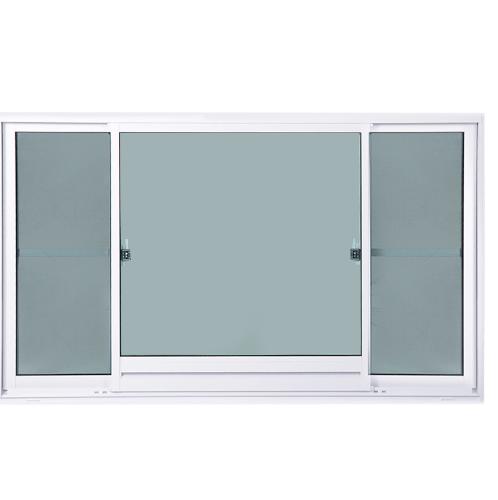 SankyoAlumi หน้าต่างอลูมิเนียมบานเลื่อน ช่องระบายอากาศพร้อมมุ้งลวด JW7-SFS1118-W5G สีขาว