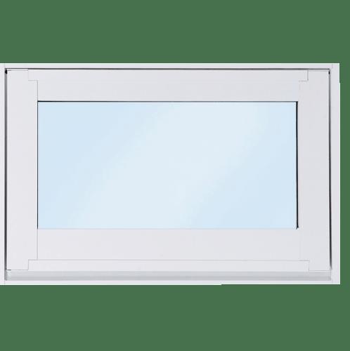 SankyoAlumi หน้าต่างอลูมิเนียมบานกระทุ้ง พร้อมมุ้ง ขนาด 60x40ซม. (J-Trust) JW7-A0604-W5P สีขาว