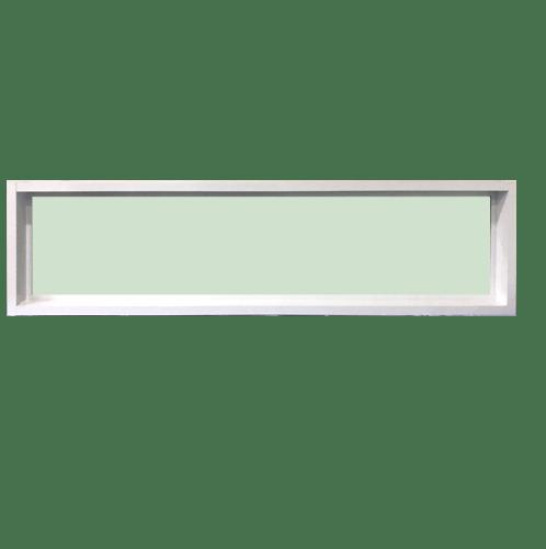 TRUSTAND (EZY WINDOW)  หน้าต่างช่องแสงอะลูมิเนียมติดตาย ขนาด 150x40ซม.   (Enzo) EZ-FIX0415  สีขาว