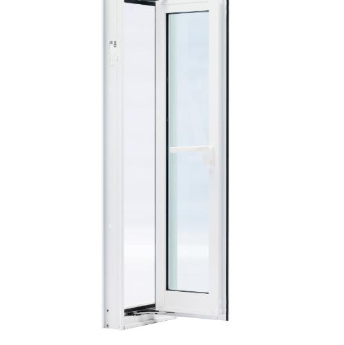 TRUSTAND (EZY WINDOW) หน้าต่างอะลูมิเนียมบานเปิดพร้อมมุ้งลวด ขนาด 60x150ซม. Ezy สีขาว