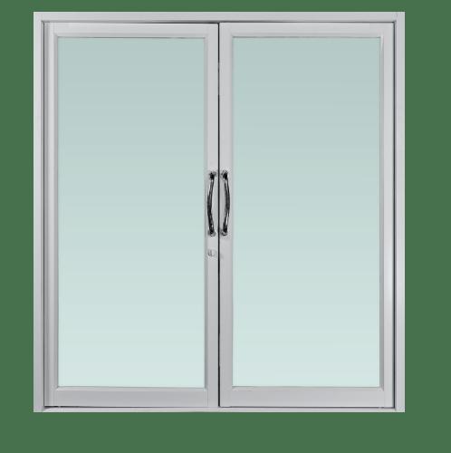 TRUSTAND (EZY WINDOW)  ประตูอะลูมิเนียมบานสวิงคู่  ขนาด 190x205ซม.  Enzo ขาว
