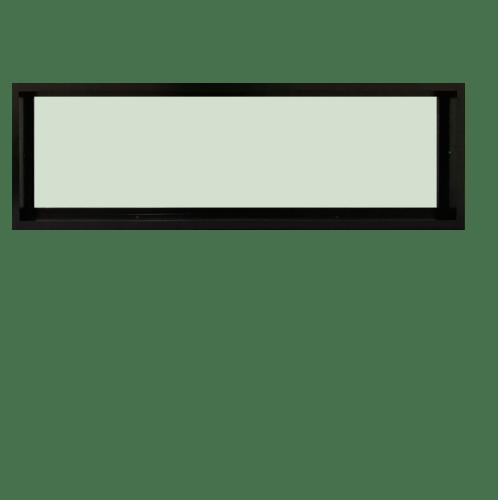TRUSTAND (EZY WINDOW) หน้าต่างอะลูมิเนียมช่องแสงติดตายกระจกเขียว ขนาด120x40 ซม.  (ENZO)  null