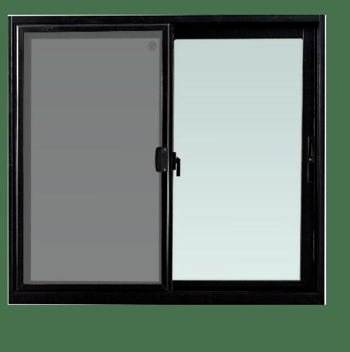 TRUSTAND (EZY WINDOW) หน้าต่างอะลูมิเนียมบานเลื่อนพร้อมมุ้งลวด SS ขนาด 120x110 ซม. (ENZO)  null
