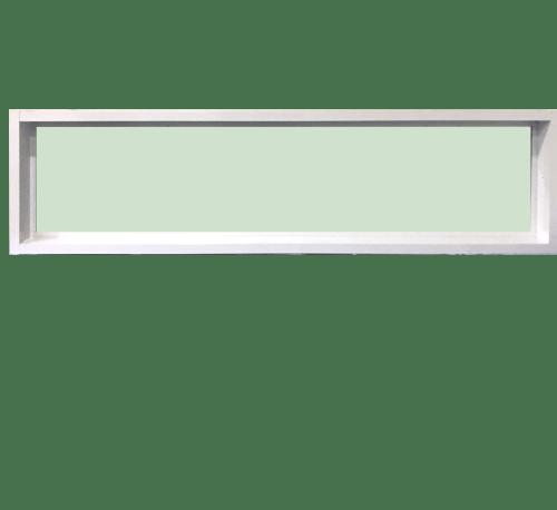 TRUSTAND (EZY WINDOW) หน้าต่างอะลูมิเนียมช่องแสงติดตาย ขนาด 150x40ซม. Enzo สีขาว