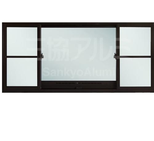 TRUSTAND (EZY WINDOW) หน้าต่างอะลูมิเนียมบานเลื่อนพร้อมช่องระบายอากาศและมุ้งลวด ขนาด 240x110ซม. (J trust) JW7-SFS-1124   สีน้ำตาล
