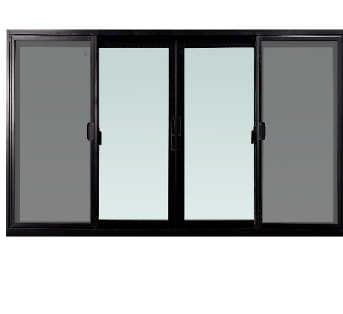 TRUSTAND (EZY WINDOW) หน้าต่างอะลูมิเนียมบานเลื่อนพร้อมมุ้งลวด ขนาด 180x110ซม. FSSF (ENZO)  สีดำ