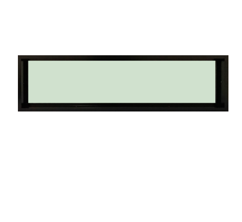 TRUSTAND (EZY WINDOW) หน้าต่างอะลูมิเนียมช่องแสงติดตาย ขนาด 150x40ซม. (ENZO)  สีดำ