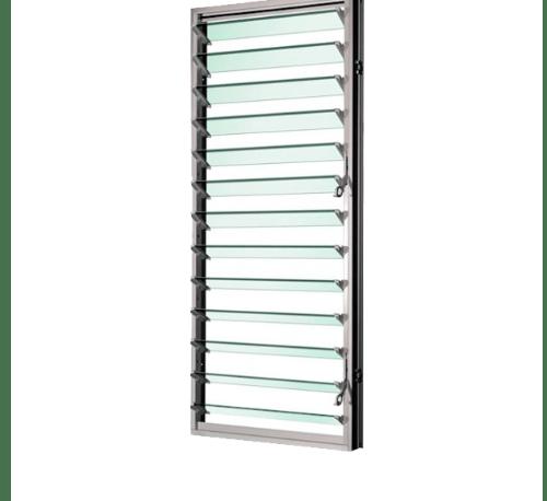 TRUSTAND (EZY WINDOW) หน้าต่างบานเกล็ดพร้อมมุ้งลวด ขนาด 40x122ซม. Ezy สีขาว