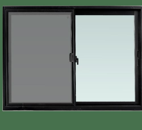 TRUSTAND (EZY WINDOW) หน้าต่างอะลูมิเนียมบานเลื่อนพร้อมมุ้งลวด SS (ENZO) 150x110ซม. null