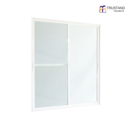 Trustand Ezy ประตูบานเลื่อน  ขนาด 213.5x180 cm. กระจกเขียว พร้อมมุ้งลวด ED-SS2118-W5G สีขาว