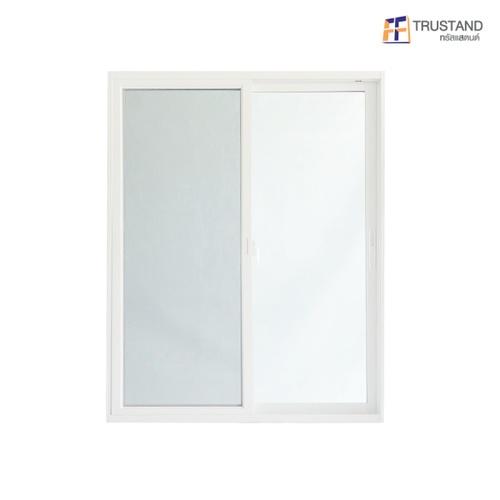 Trustand Ezy หน้าต่างบานเลื่อน +กระจกเขียว 5มม.+มุ้งดำ ขนาด 1550x1200 EDW-SS1512-W5G สีขาว