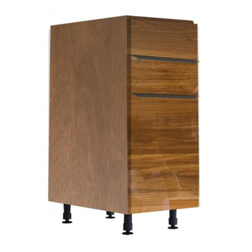 KITZCHO ตู้ลิ้นชัก+บานเปิดซ้าย8440สีสักทอง Glossy