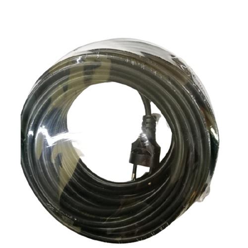 MITSUYAMA สายหล่อหัว VCT สายไฟ 2x1 มอก. ยาว 10 เมตร สีดำ