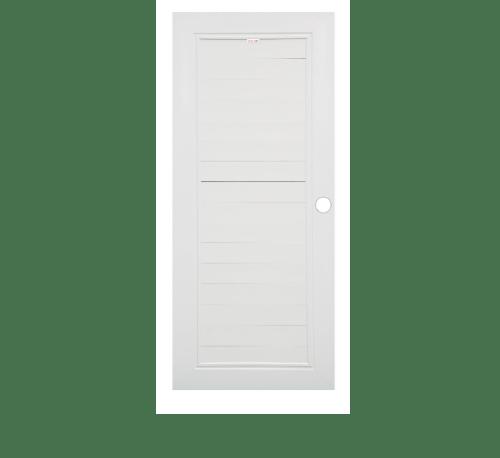 CHAMP ประตูยูพีวีซี ขนาด  90x200ซม.  MUI-1 สีขาว