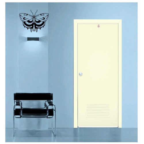 CHAMP ประตู+วงกบขนาด 70x180 ซม. (ไม่เจาะ) S-ECON2 สีครีม