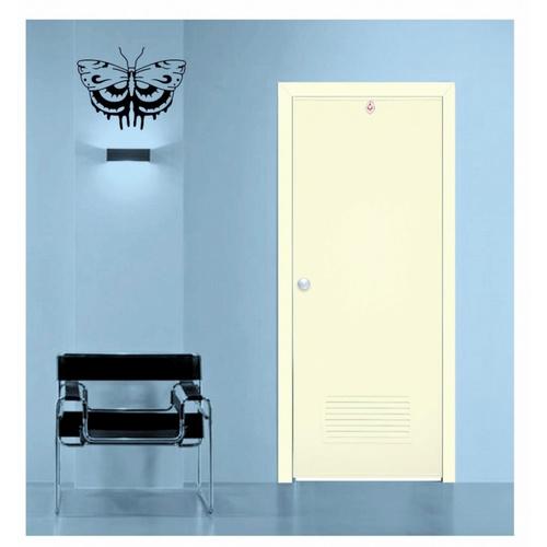 CHAMP ประตู+วงกบ ขนาด 70x200  ซม. (ไม่เจาะ) S-ECON2 สีครีม
