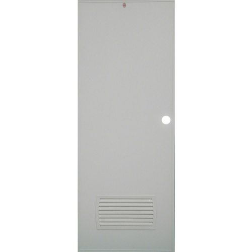 CHAMP ประตู+วงกบ ขนาด 70x200 ซม.  S-ECON2(เจาะ)  สีเทา