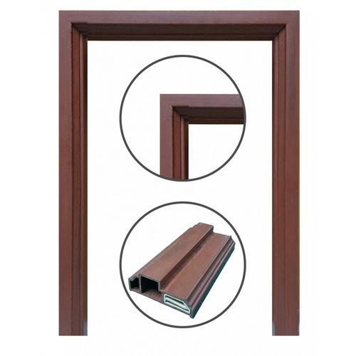 CHAMP วงกบประตูไม้สังเคราะห์ ขนาด70x200ซม.สีโอ๊คแดง WPC