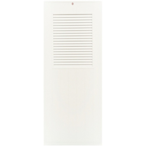 CHAMP  ประตูยูพีวีซี เกล็ดครึ่งบานบน ขนาด70x180ซม.  (ไม่เจาะ) M3 สีขาว