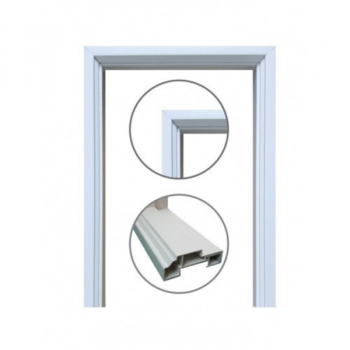 CHAMP วงกบประตู  ขนาด 70x180 ซม.  U-UPVC สีขาว