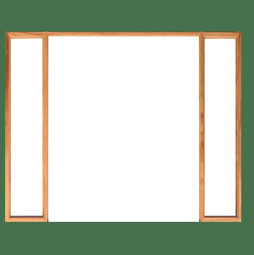 WINDOOR วงกบประตูไม้เรดวูด ขนาด  160x200ซม. (2 x 4)  Com 7