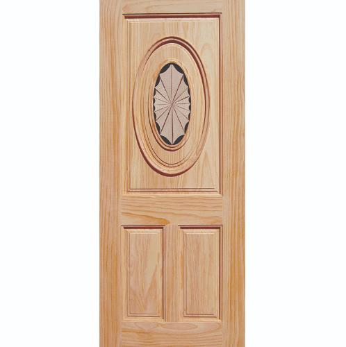 WINDOOR ประตูลวดลาย สนNz ขนาด  80x200 ซม. INLAY-01