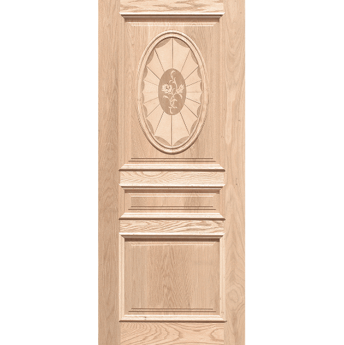WINDOOR ประตูลวดลาย สนNz ขนาด  80x200 ซม. INLAY-17