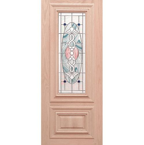 WINDOOR ประตู+กระจก  สนNz  ขนาด 80x200 ซม. MD-28