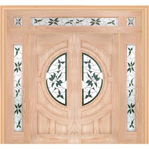 WINDOOR ประตู+กระจก Com 16 สนนิวซีแลนด์ ขนาด  80x200ซม.  Glaring Green