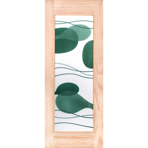 WINDOOR ประตูกระจกไม้สน ขนาด 80x200 cm.  S.PRICE 25