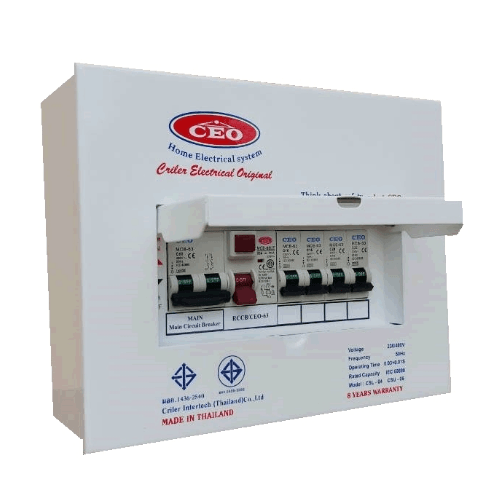 CEO เครื่องตัดไฟฟ้ารุ่น  CSL  50A  4 ช่อง   Csl 4w 50A
