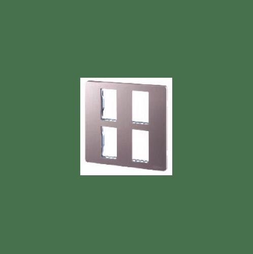 CHANG ฝาพลาสติก 4ช่อง สีพิงค๋โกลด์ i-Modern C-404C-PG สีชมพู