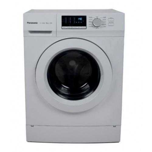 PANASONIC เครื่องซักผ้าฝาหน้า 8 กก.  NA-128XB1WTH สีขาว