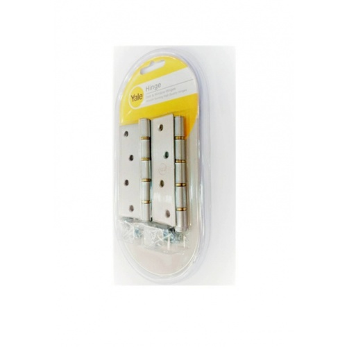 YALE บานพับแกนเล็กหัวตัดมีหมุดแหวนทองเหลือง  ขนาด 4x3 นิ้ว HIB43SS