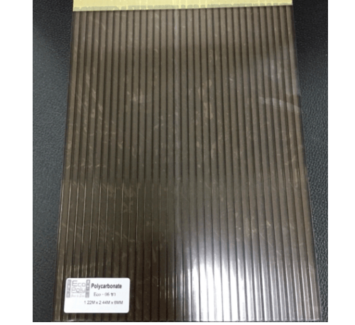 Poly Top โพลีคาร์บอเนต ขนาด 2.1mX4.45mX6mm.สีชา POLYTOP  ชา