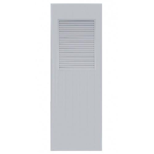 BATHIC ประตูพีวีซี  ขนาด 100x200 ซม. ไม่เจาะรูลูกบิด BC3 สีเทา