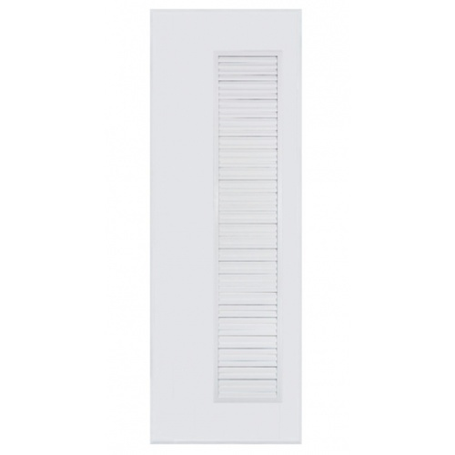 BATHIC ประตูพีวีซี ขนาด 80x200ซม.  (ไม่เจาะรูลูกบิด) BC5 สีขาว
