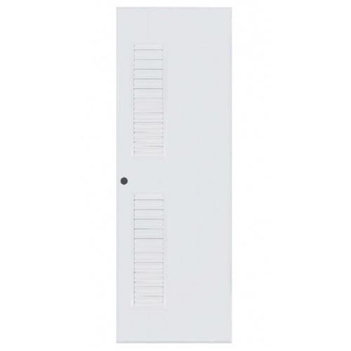 BATHIC ประตูพีวีซี ขนาด 70x180ซม.  (เจาะรูลูกบิด) BC6 สีขาว