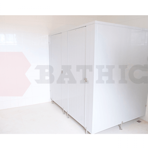 BATHIC ผนังห้องน้ำพีวีซี แผงพาร์ทิชั่น 20x200 cm. PT สีเทา
