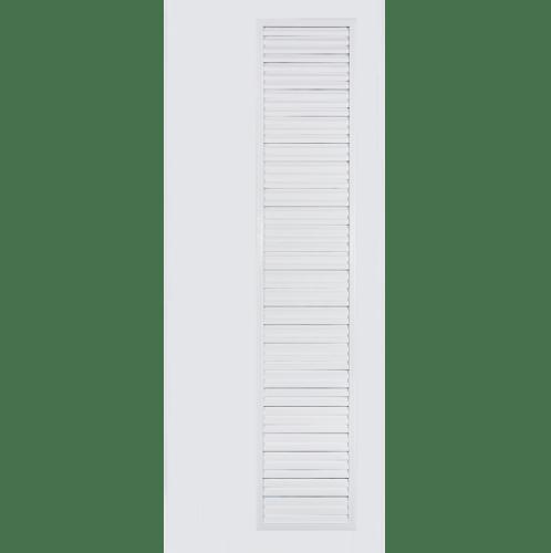 BATHIC ประตูพีวีซี  ขนาด 70x188 ซม. ไม่เจาะรูลูกบิด BC5 สีขาว