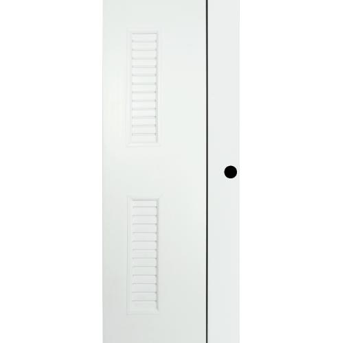 BATHIC ประตูยูพีวีซี  ขนาด 70x180ซม. (เจาะรู) BG6 สีขาว