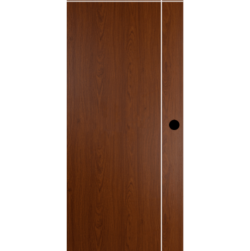 BATHIC  ประตูไม้สังเคราะห์ WPC ขนาด 90x200ซม. สีสเปลลี่วอลนัท (เจาะรู) BWC03