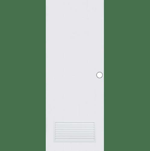 BATHIC ประตูพีวีซี ขนาด  71x197.5ซม. (เจาะรูลูกบิด) BC2 ขาว
