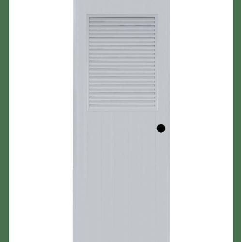 BATHIC ประตูพีวีซี BS3 ขนาด 70x195 ซม. (เจาะรูลูกบิด) null