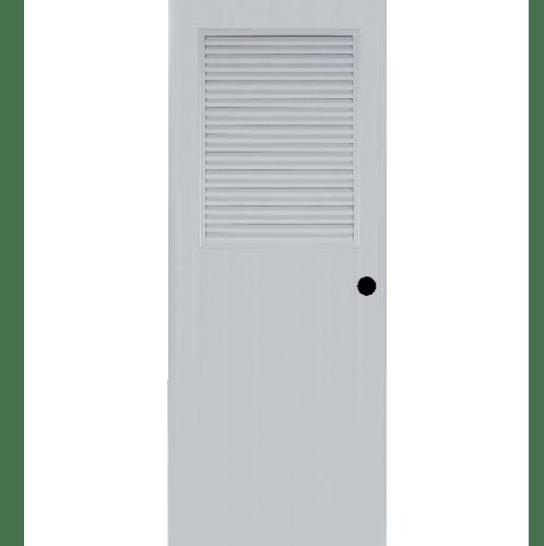 BATHIC ประตูพีวีซี BS3 80x195ซม. (เจาะรูลูกบิด) null