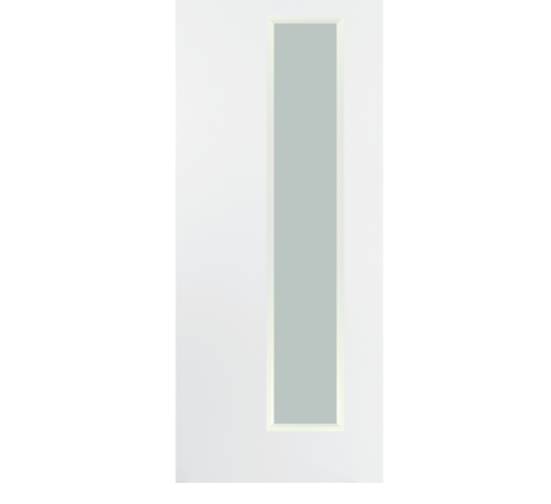 BATHIC  ประตูไม้สังเคราะห์กระจกฝ้า ขนาด 90x200ซม.  (ไม่เจาะรูลูกบิด)  BWG05 ขาว